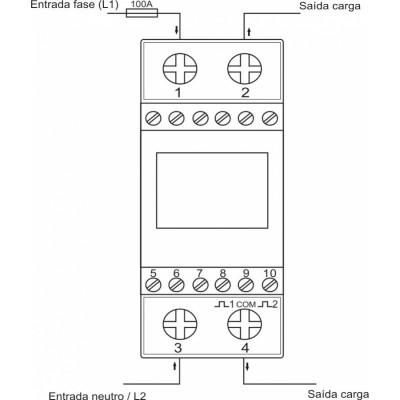 Medidor de Consumo de Energia Elétrica 220v 100A - Kwh