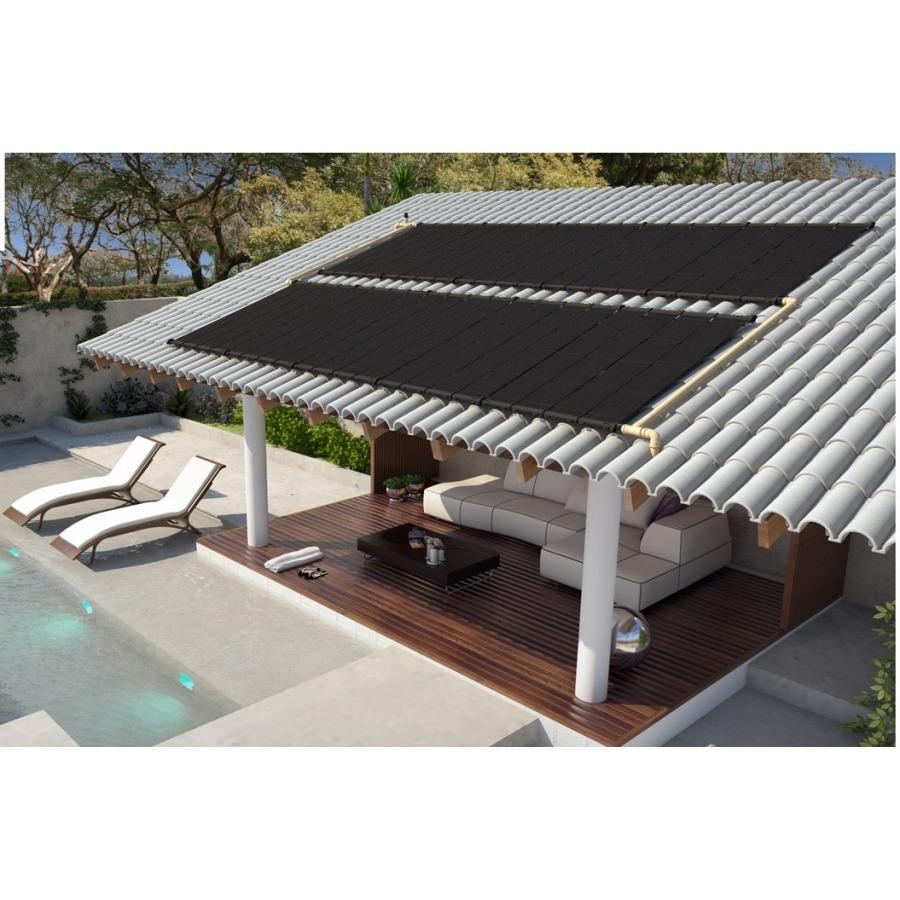 Kit Aquecedor Solar para Piscina 5x3 mt - 15m²  - Indicado para Região de Clima Frio