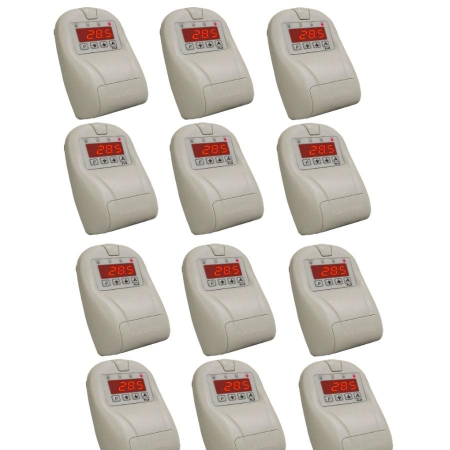 TLZ Termostato Digital com Programador de Horário Caixa com 12 Un